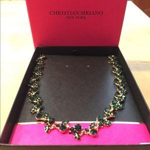 Christian Siriano Emerald Gemstone Necklace